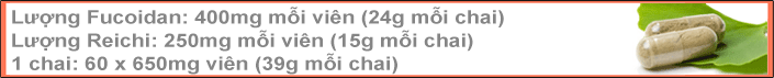 Fucoidan Force's Ingredients